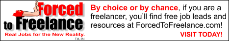 Forced To Freelance! Freelance jobs and resources.